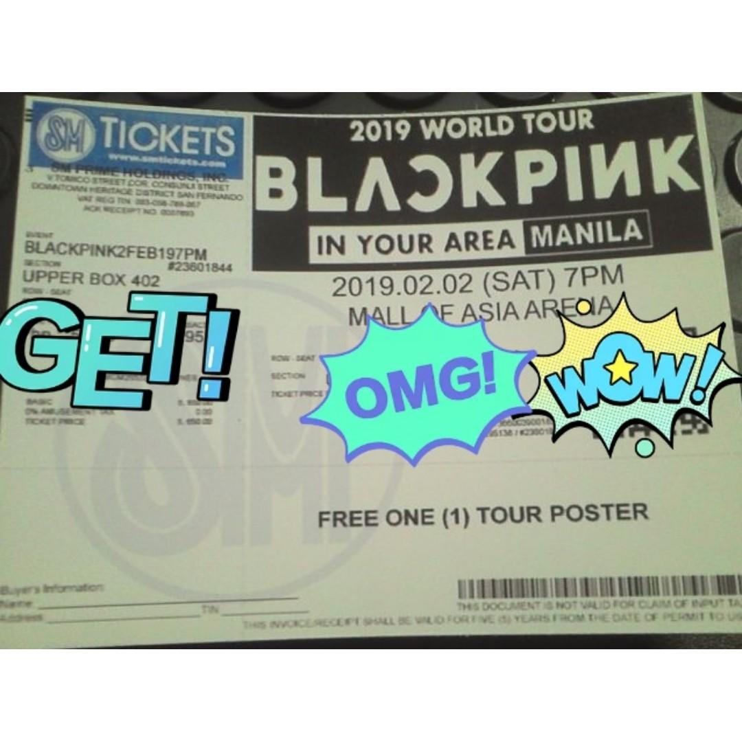 Blackpink Concert Philippines 2019 Ticket