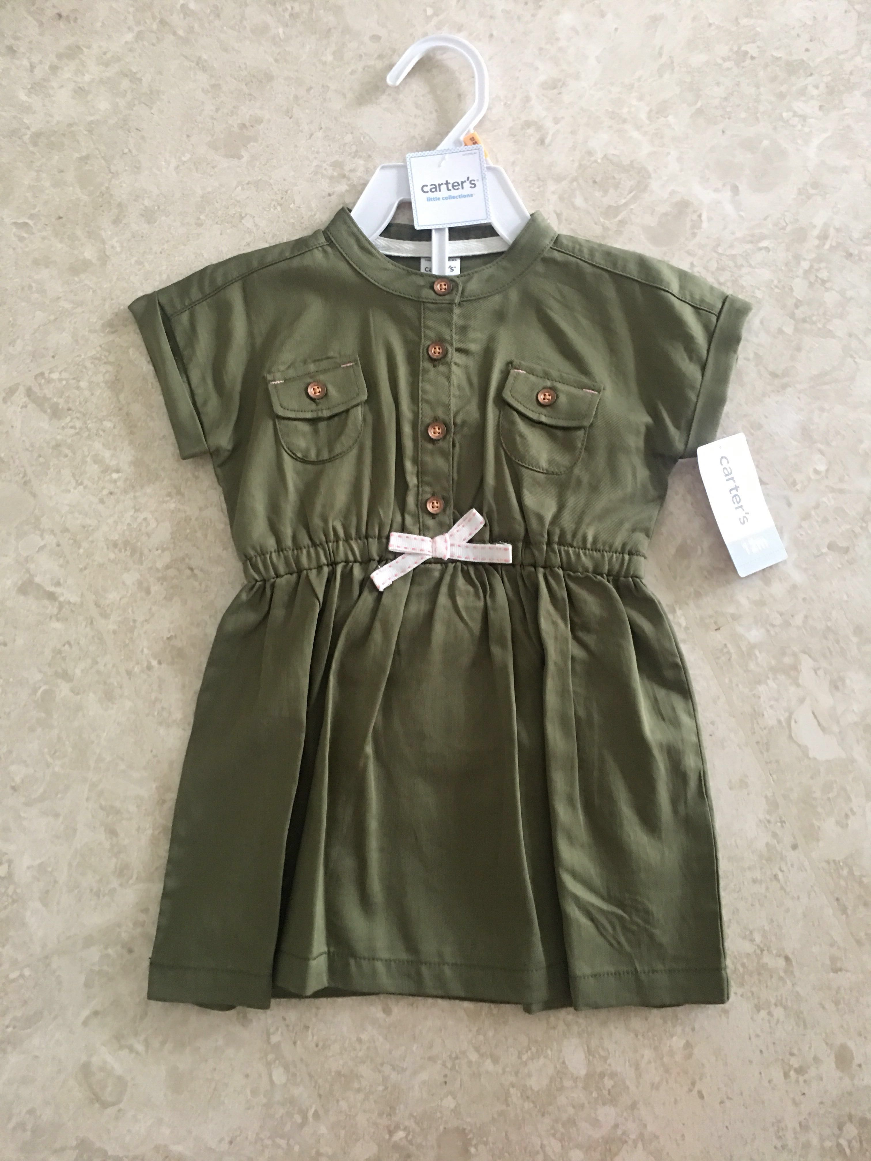 9b8d45ad BN 12M Carters Dress with matching diaper cover, Babies & Kids ...