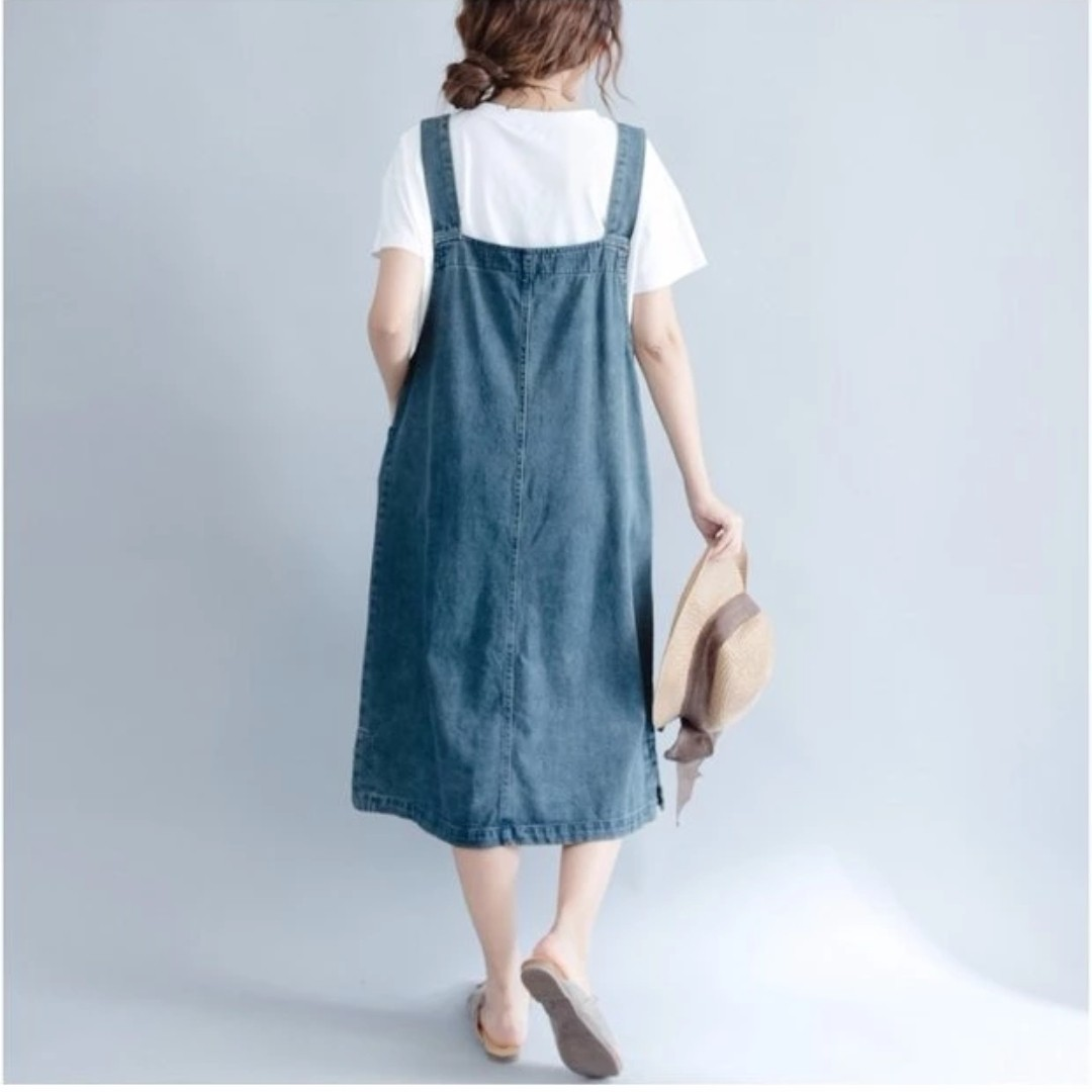 49cededb7fa71 BN Denim Pinafore maternity wear, Women's Fashion, Clothes, Dresses &  Skirts on Carousell