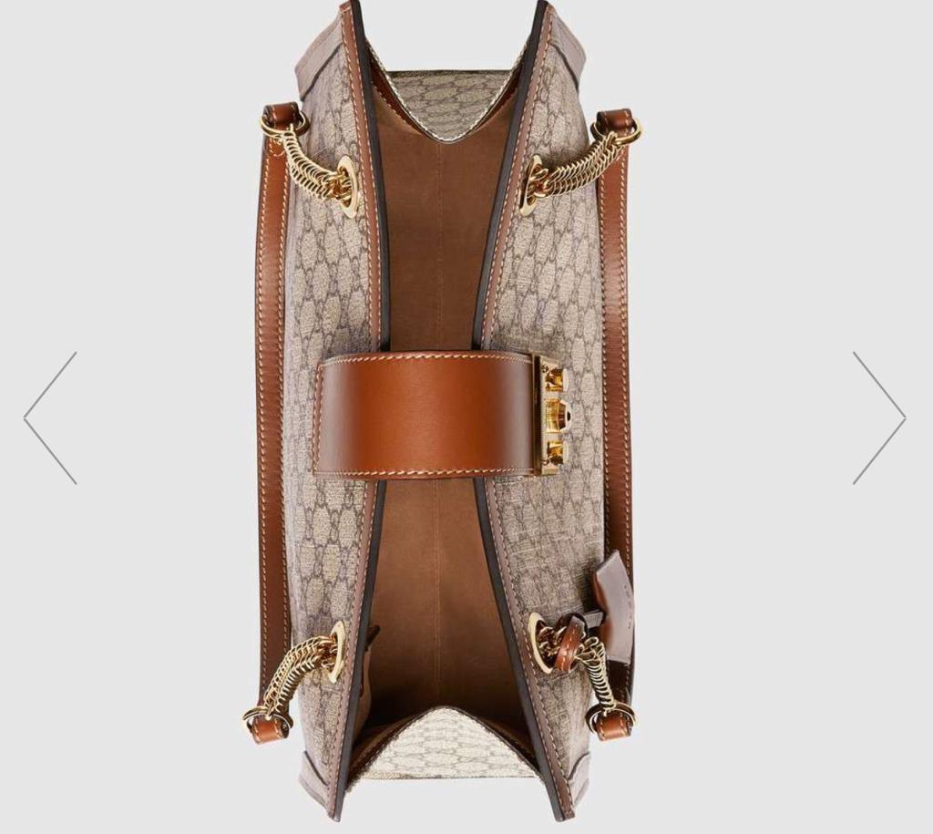 46b28f080ee BN Gucci Padlock GG Supreme Canvas Shoulder Bag Medium