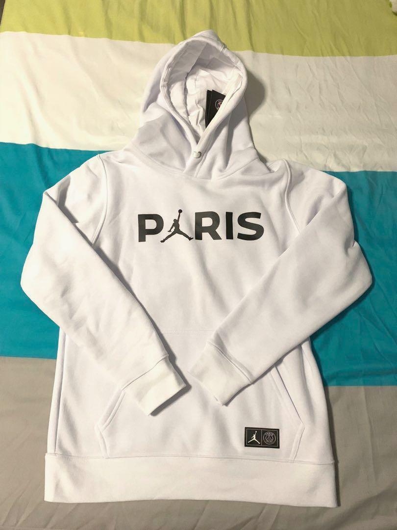 2f9bc39ca18df8 BNWT PSG Nike Jordan white hoodie!!