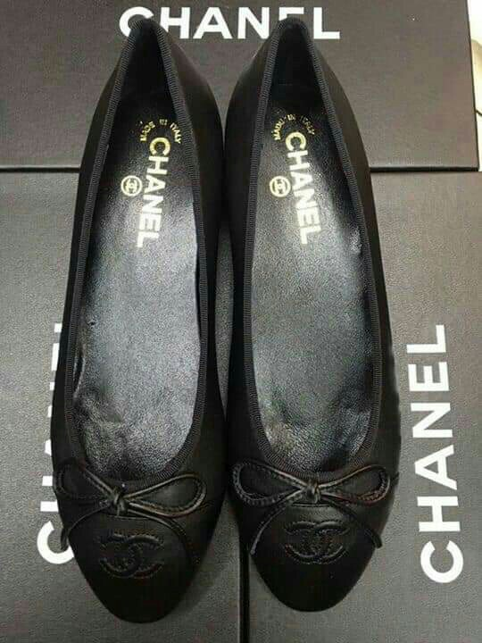f281222dfe0 35 40 Plete Chanel Ballerina Flats Shoes Cc. Chanel Black Quilted Leather  Bon Ballet Flats Features ...