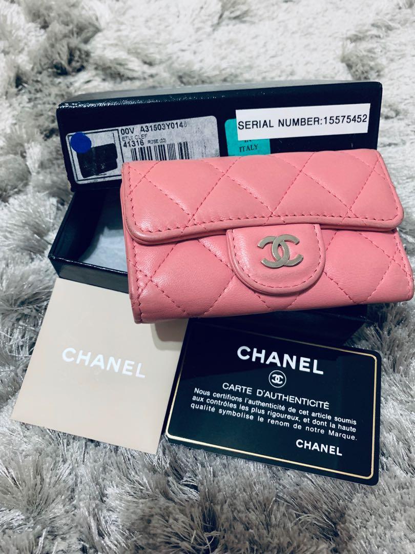bf5b1836d6e7b4 Chanel lambskin keyholder, Women's Fashion, Bags & Wallets, Others ...