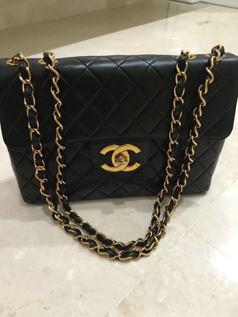 e241ff2ae96e Chanel Vintage Classic Maxi Single Flap bag, Luxury, Bags & Wallets ...