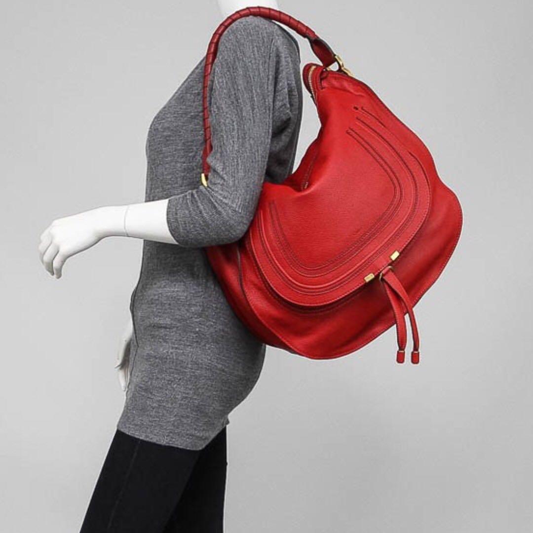5f3b3aaab5 Chloe Marcie Large Hobo Bag (Red)