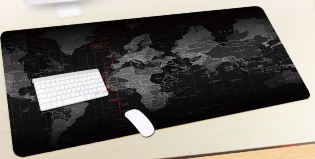 Extra Large World Map Mouse Pad Electronics Computer Parts