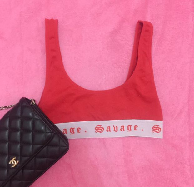 Forever 21 Savage Red Crop Top Women S Fashion Clothes Tops On