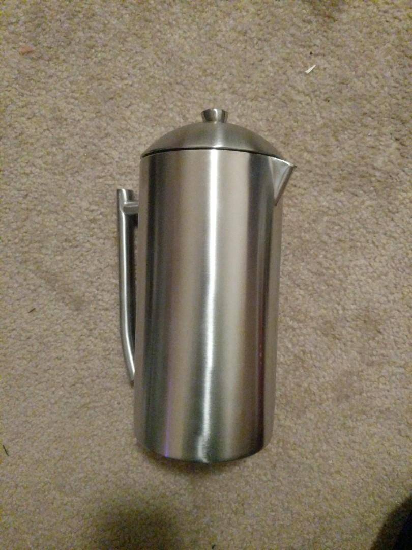 Frieling Doubel Wall Stainless Steel French Press Coffee Maker, 44oz