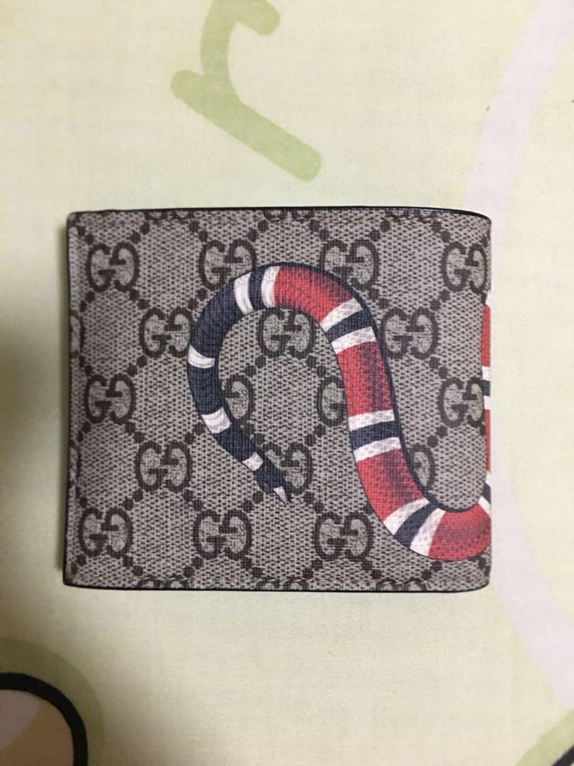 8168e3d1e430f1 Gucci GG Supreme Kingsnake print wallet, Men's Fashion, Bags & Wallets,  Wallets on Carousell