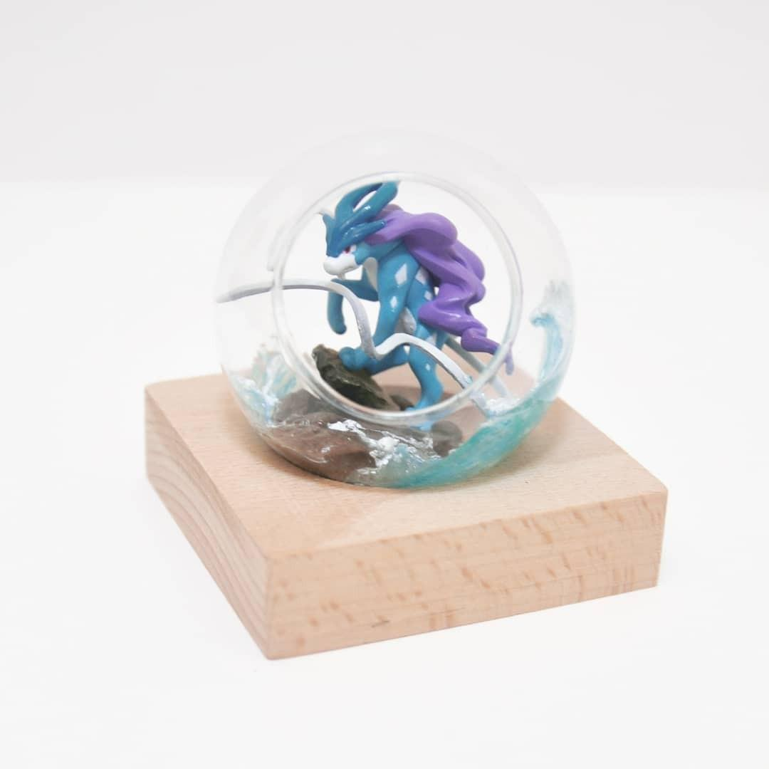 Handmade 手作禮物 Pokemon Pokeball 寵物小精靈 精靈球 水君 Suicune