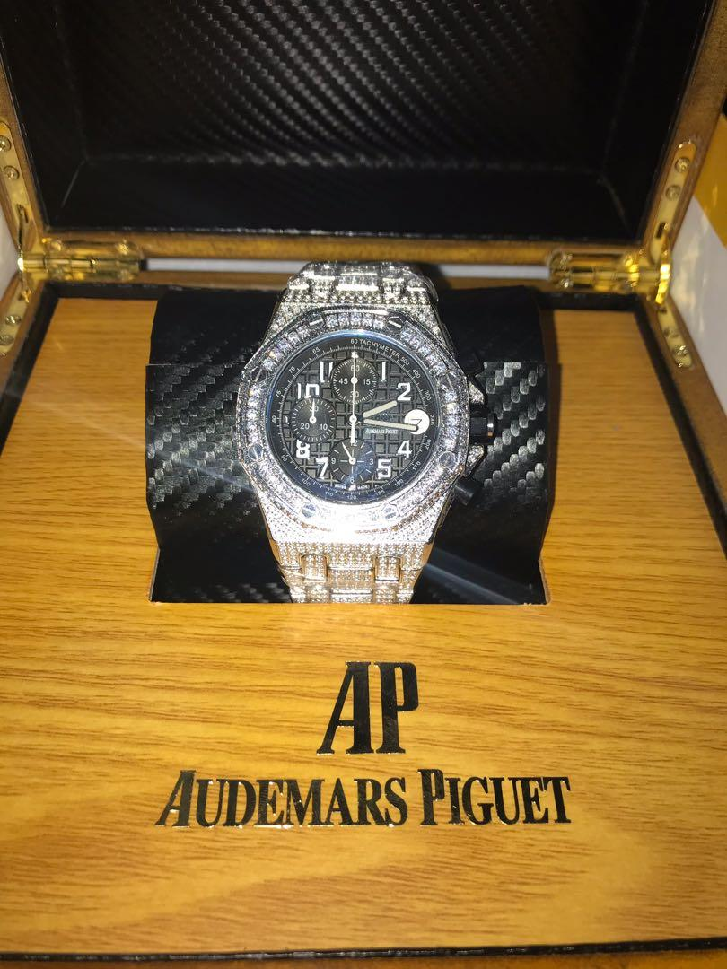 Iced Out Luxury Watch Men's