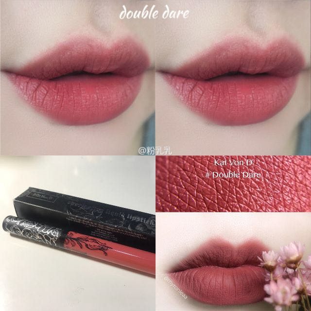 90668d01760 Kat Von D Everlasting Liquid Lipstick, Double Dare, Health & Beauty ...