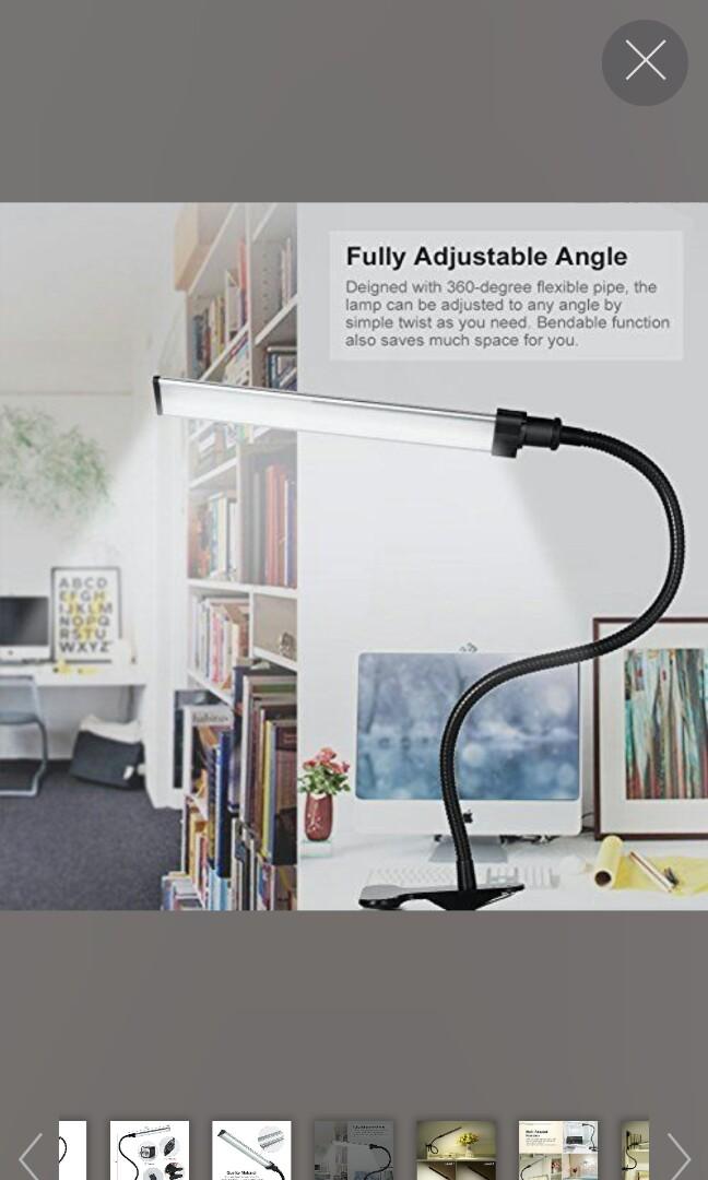 Ledgle Led Desk Lamps Desk Lamp Clip On Reading Light Task Lighting 2 Level