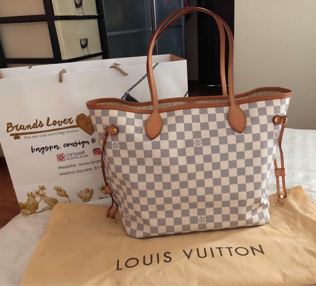 f4f61b66a3bb Louis Vuitton Neverfull MM Damier Azur