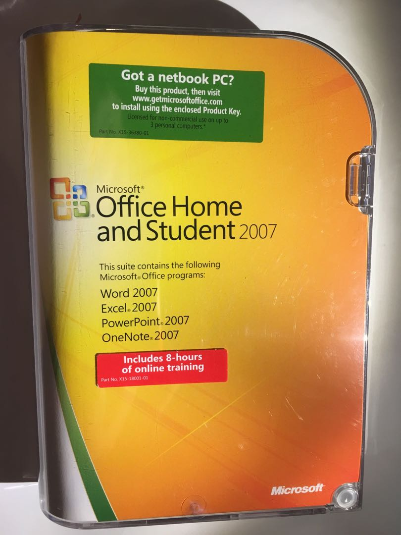 Microsoft Office Home 2007 Version