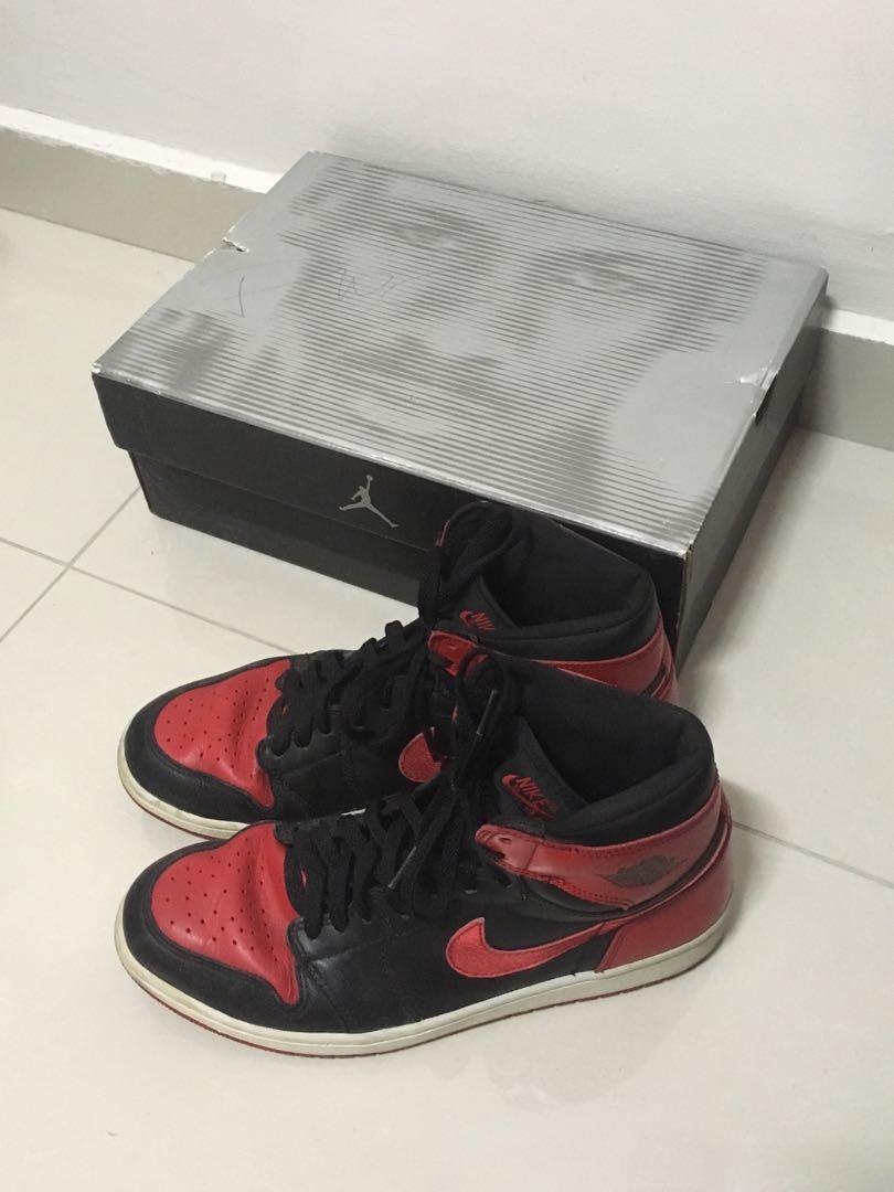 Nike Air Jordan 1 OG Bred 2001, Men's
