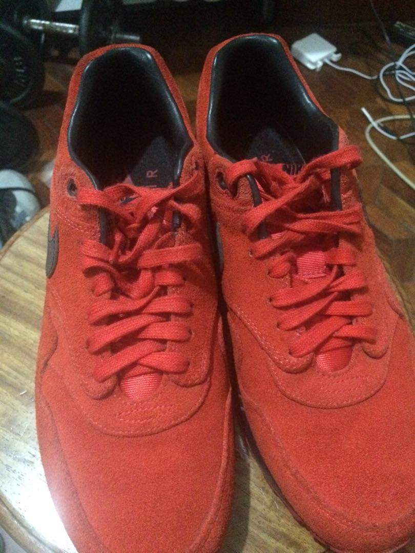 best service 84cfc be681 Nike Air Max 1 - Pimento - Size 10 US, Men s Fashion, Footwear, Sneakers on  Carousell