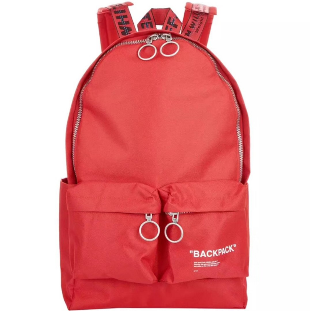 70d88232343a Off White 19SS Red Backpack, Men's Fashion, Bags & Wallets ...