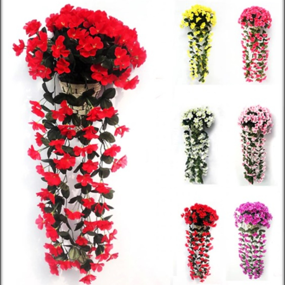Po Hanging Artificial Flowers Bulletin Board Preorders On Carousell