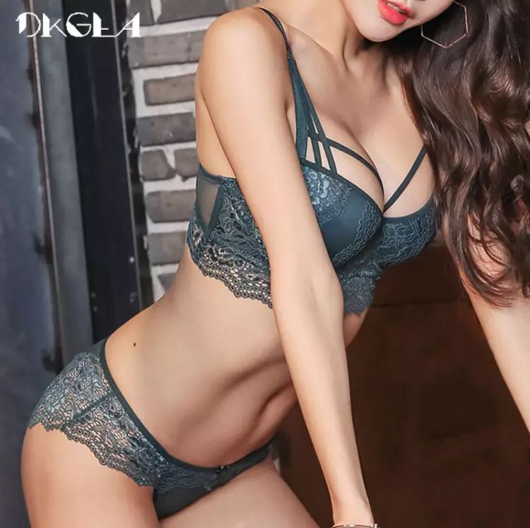 f68bfd55e62cb PO) New Top Sexy Underwear Set Cotton Push-up Bra and Panty Sets 3 4 ...