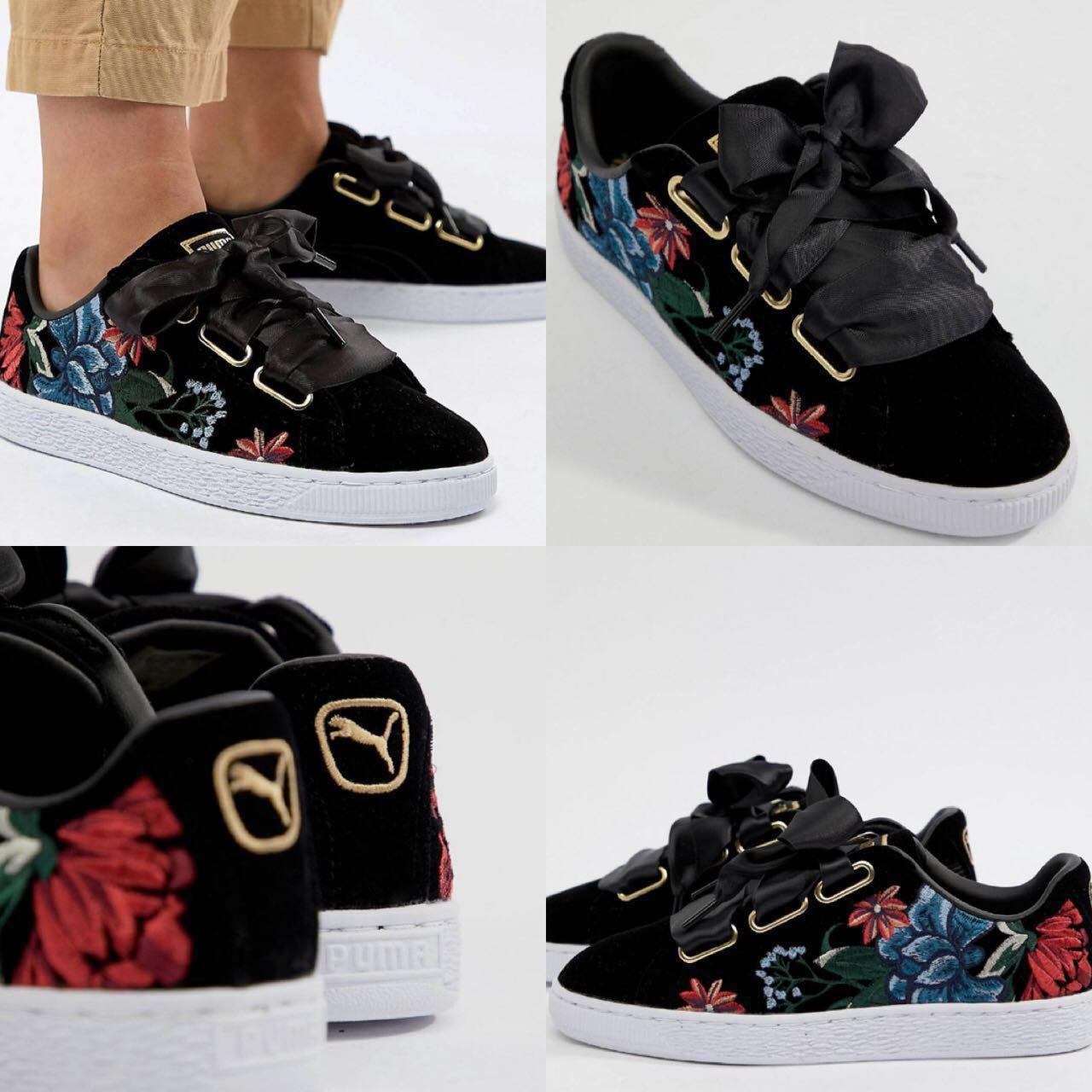 Basket Fashion Trainers With Embroidery100Women's Heart Puma Lq54j3AR