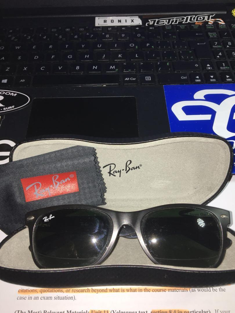 Ray-Ban New Wayfarer, authentic, polarized, comes with case and cloth.