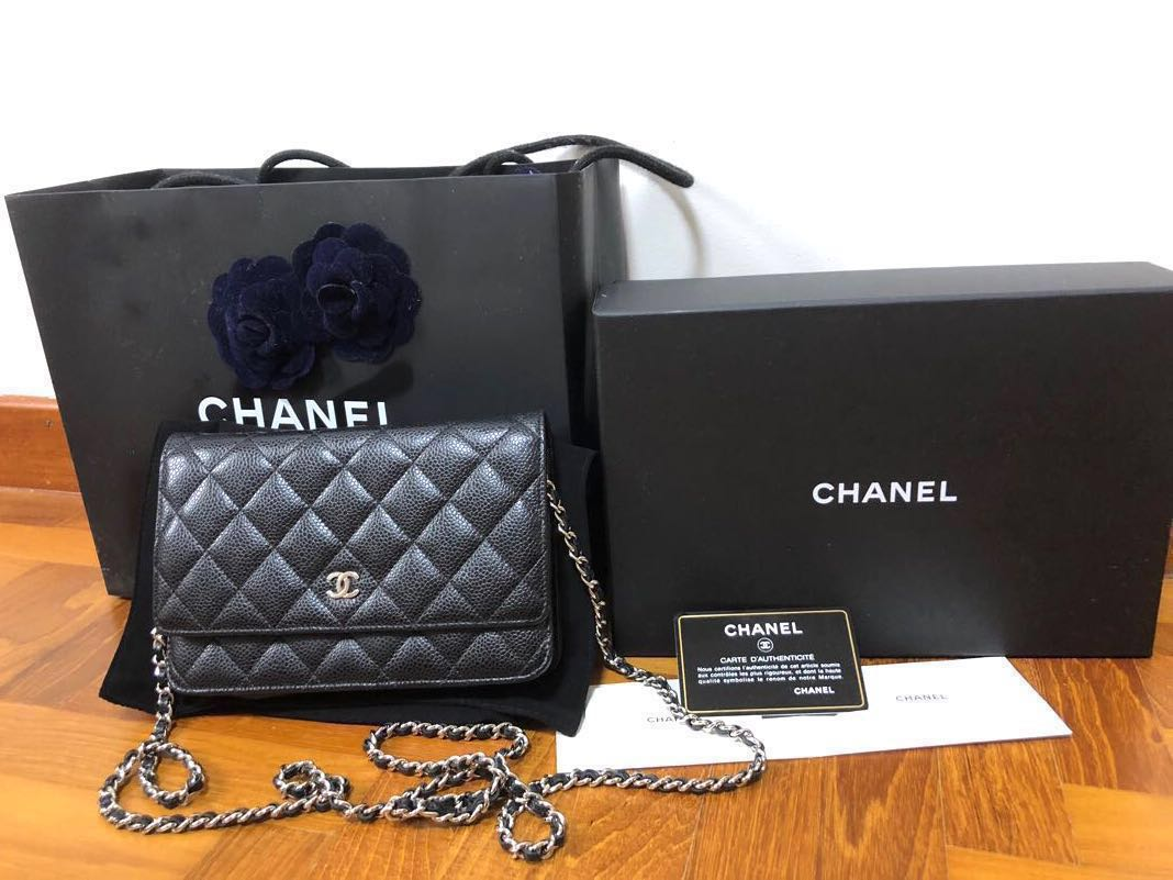 67b483c388928c Reserved] Chanel Classic Wallet On Chain WOC, Luxury, Bags & Wallets ...
