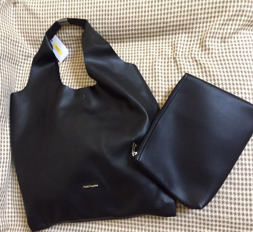 SALE Original Black Hush Puppies Hobo Bag 5f27306024