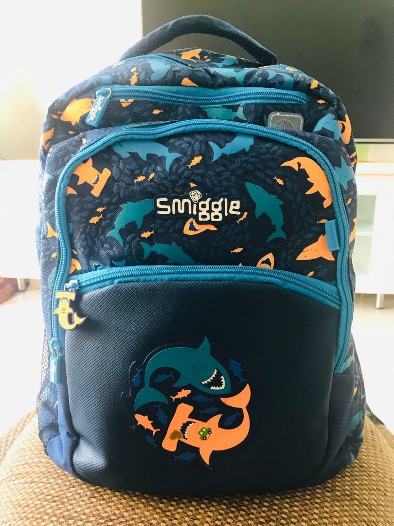Smiggle boy's school backpack, Babies & Kids, Boys' Apparel