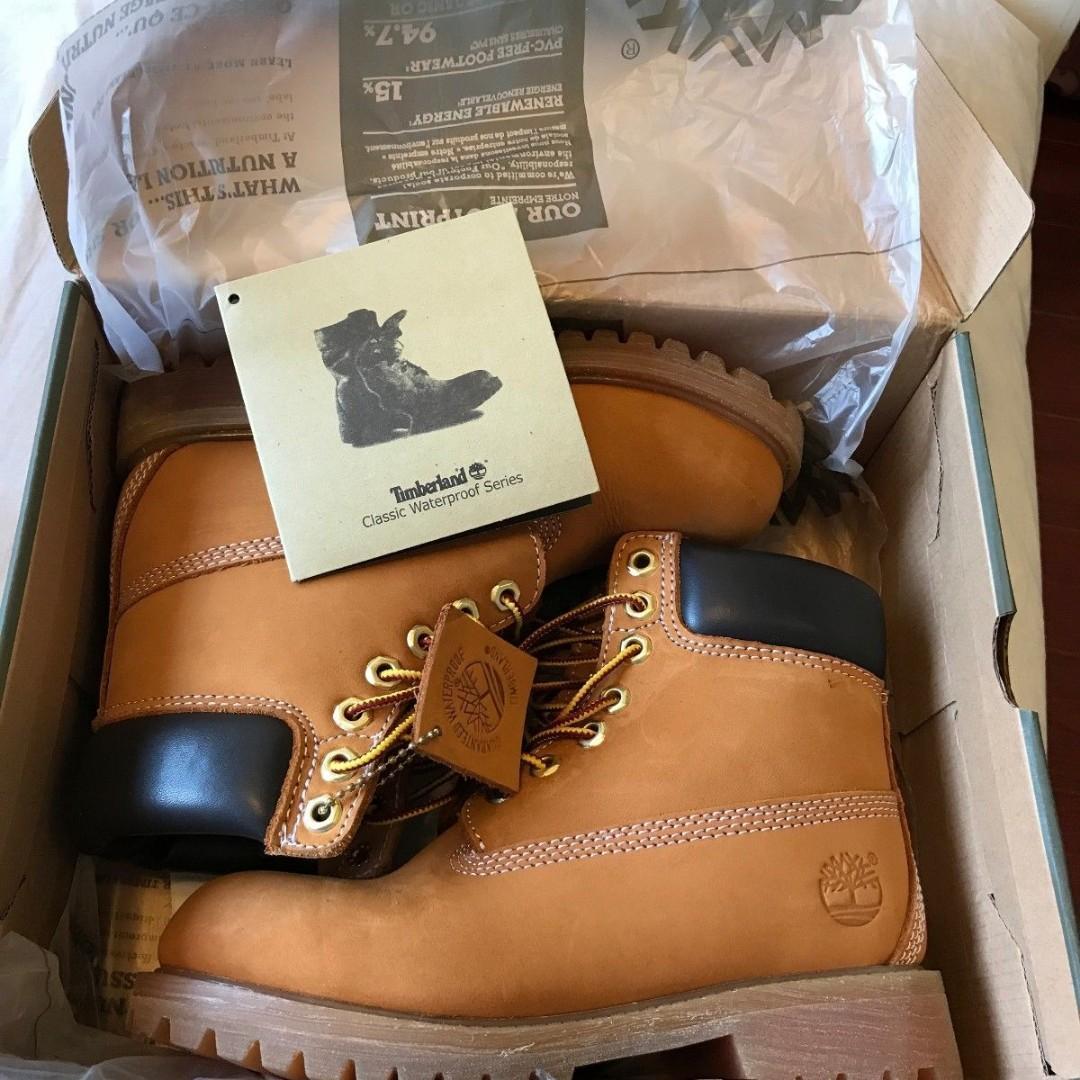 Timberland Wheat Nubuck Mens Boots Waterproof Unworn
