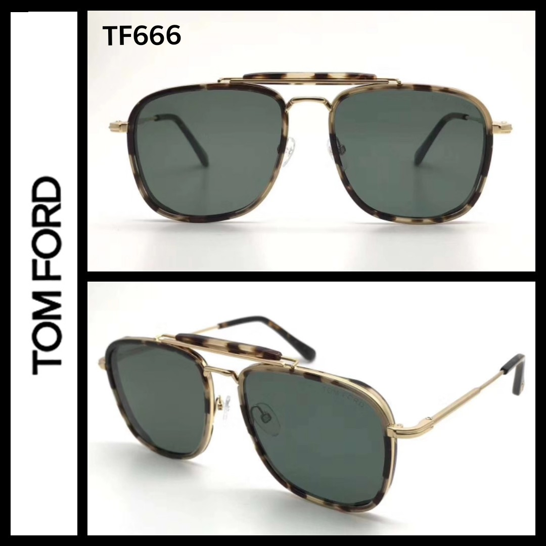 5e573bdea8 Tom Ford TF665 Huck aviator sunglasses - New