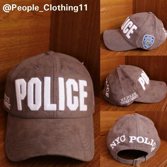 Topi Baseball Import POLICE COKELAT, Men's Fashion, Men's Accessories, Caps & Hats on Carousell