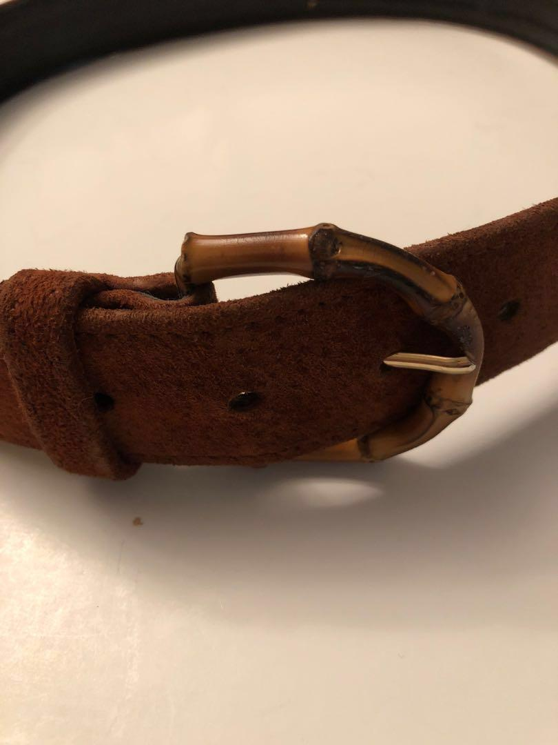 Vintage Holt Renfrew Bamboo buckle leather belt -medium
