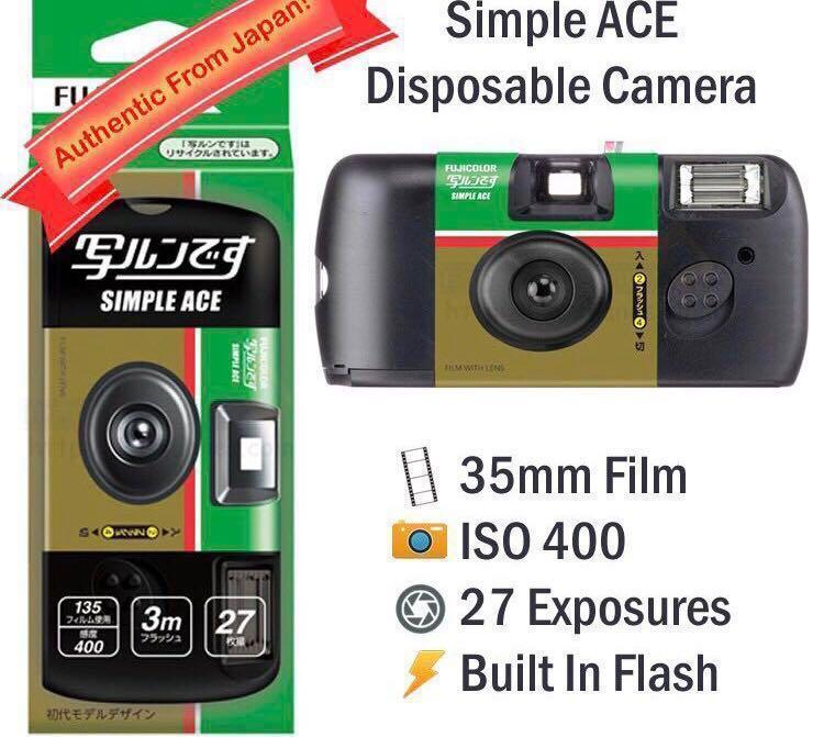 WATERPROOF DISPOSABLE FUJIFILM CAMERA AUTHENTIC FROM JAPAN