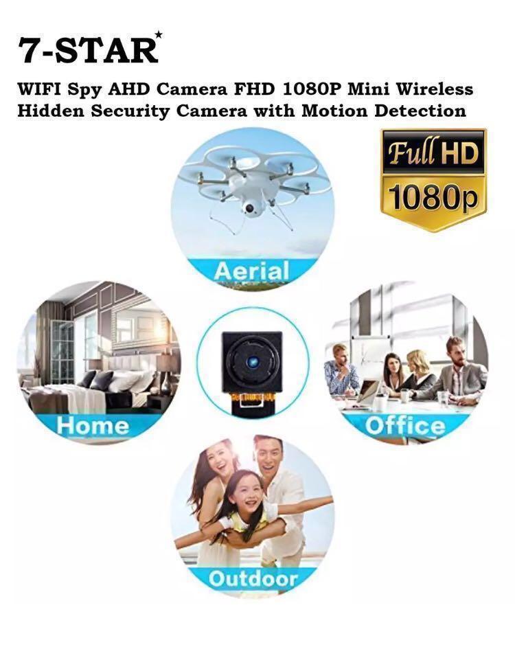 Wireless Spy Hidden Pinhole IP Cctv Camera - Spycam - Hidden cam - Mini Pinhole Ip cam (Full-HD 1080P/Built in Rechargeable Battery/Audio Recording/Own Hotspot Wifi/Motion Detect/Loop-Recording/Multi-View CCTV Camera/APP:HDMiniCam Pro-CBHCam)