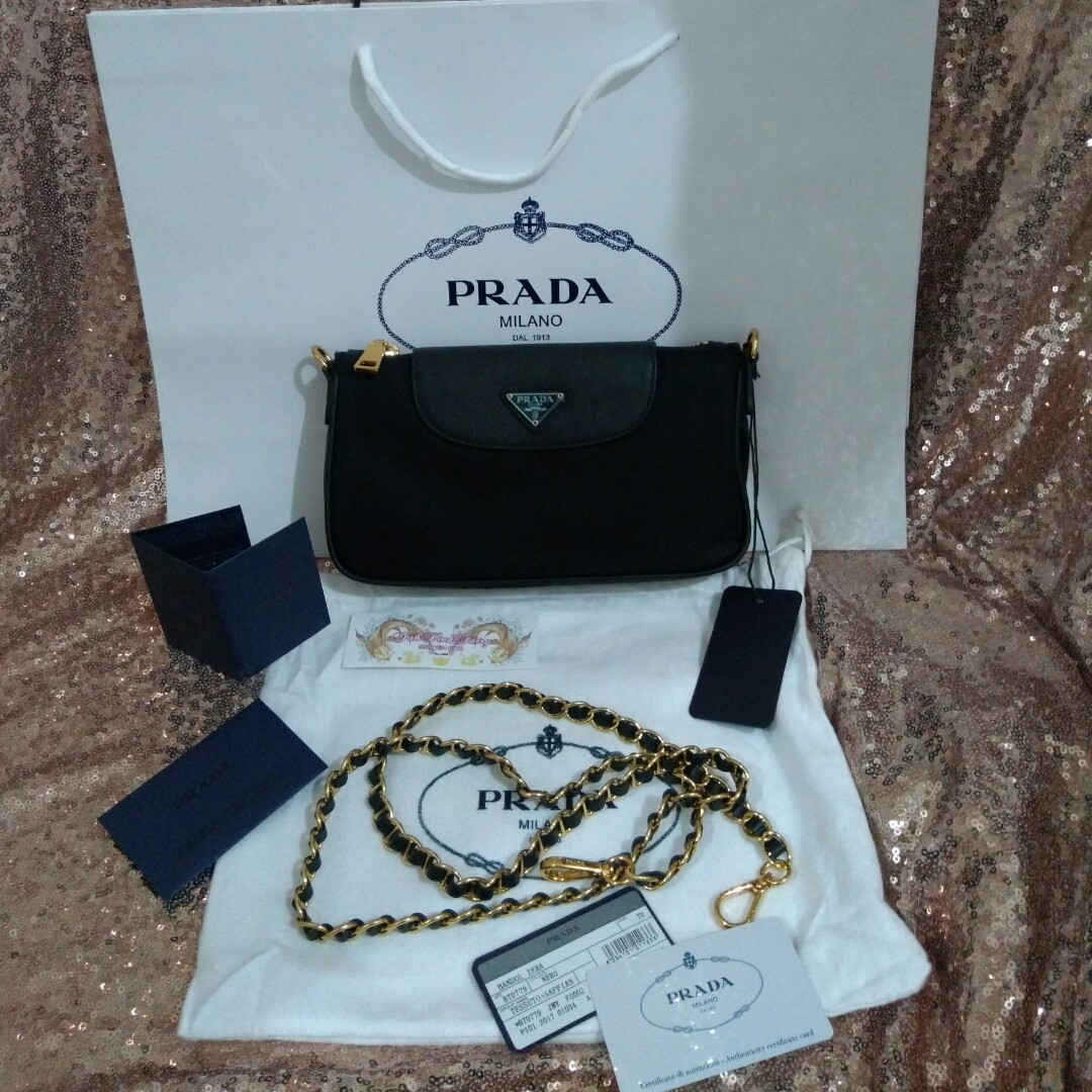 7379c984c5 w Serial   Lampo Zipper Prada 1BH779 Bag Prada Clutch Bag Prada ...