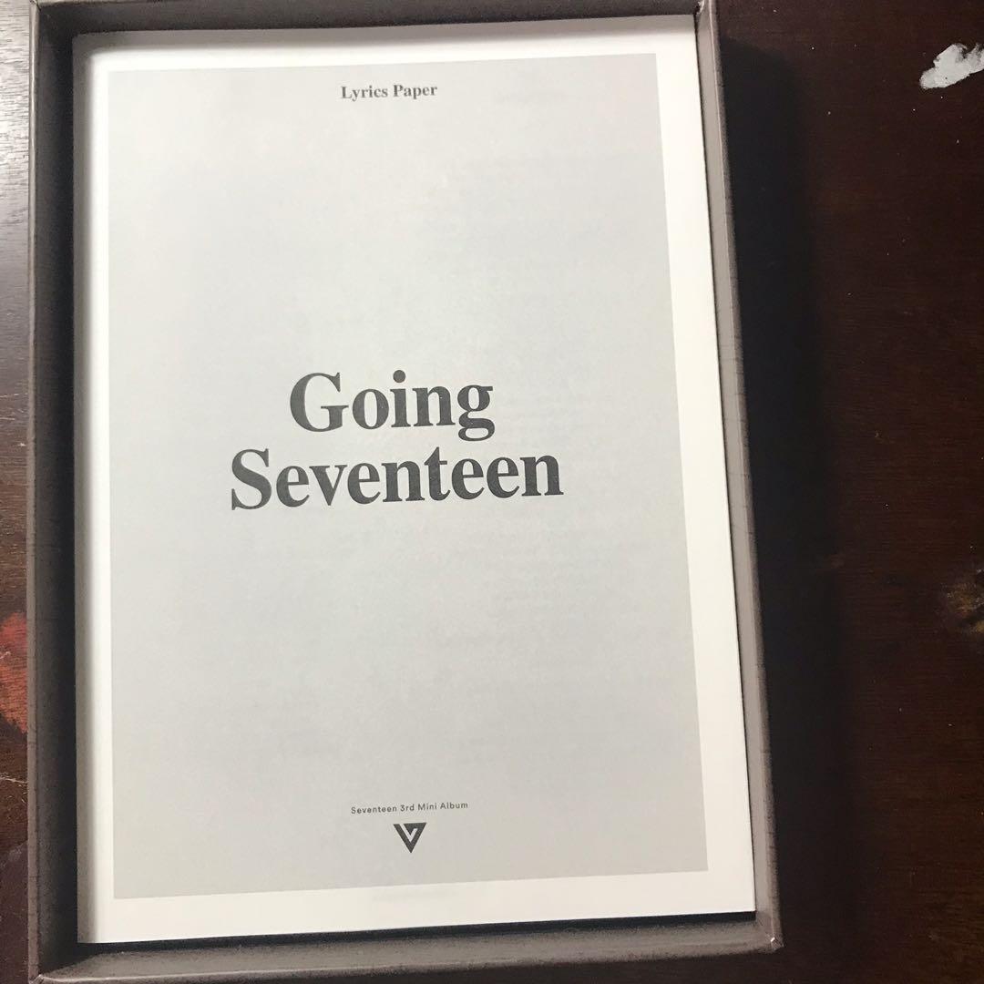 [WTS] SEVENTEEN Going Seventeen Make The Seventeen