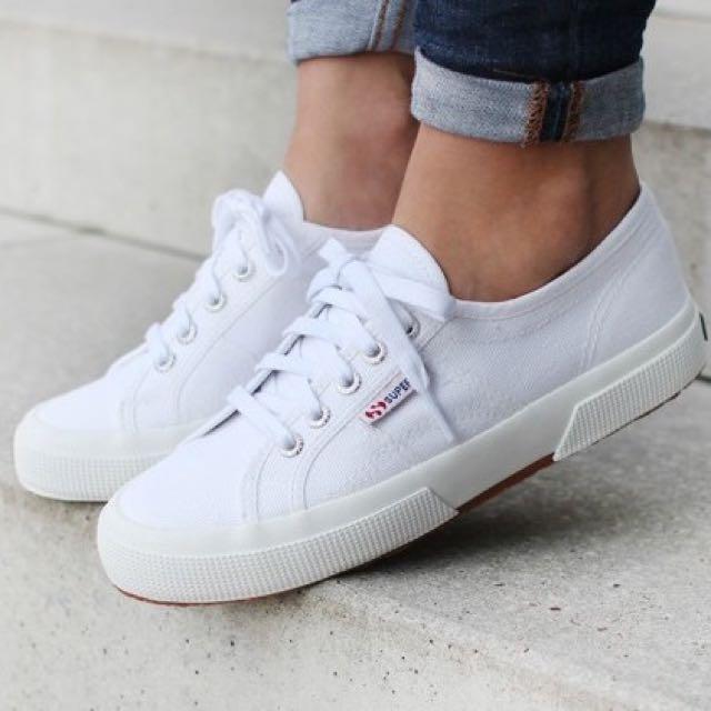 5b7c631e4 wts] white superga 2750 shoes, Women's Fashion, Shoes, Sneakers on ...