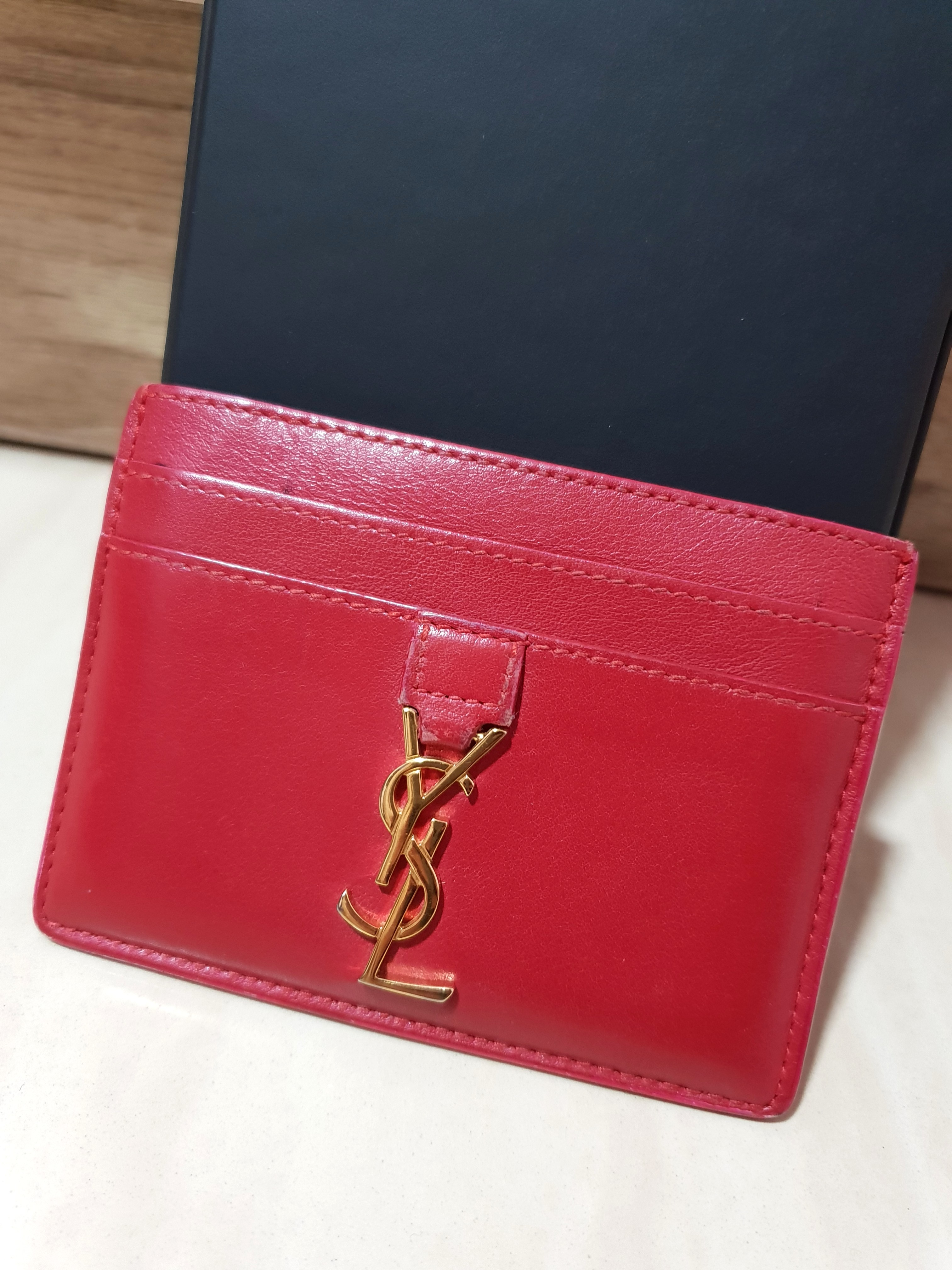 6b8f4dd5bc8 YSL cardholder, Luxury, Bags & Wallets, Others on Carousell