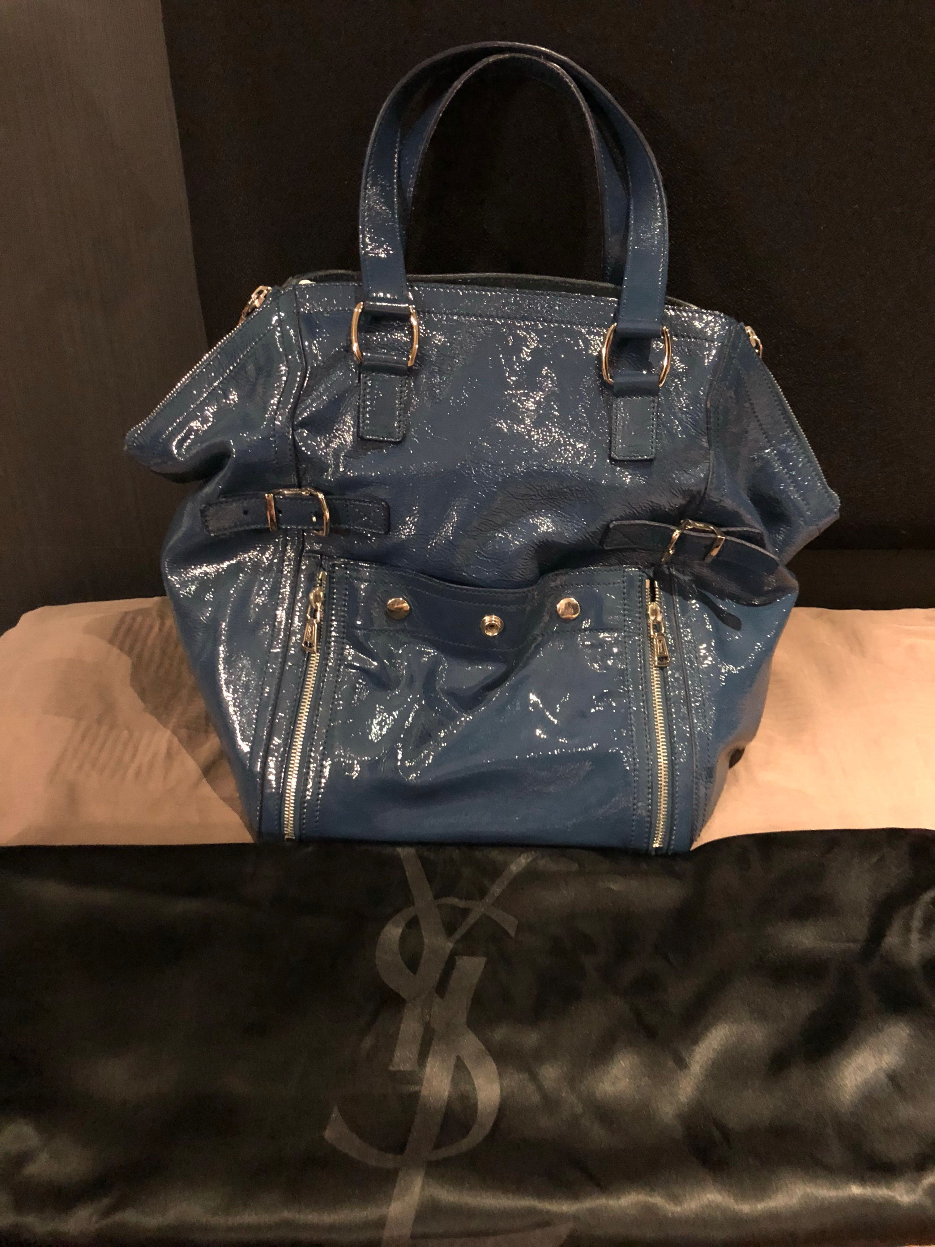 5eaefff48c4 YSL (Saint Laurent) Downtown Tote Bag In Patent Blue Leather, Women's  Fashion, Bags & Wallets, Handbags on Carousell