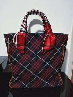 Authentic BURBERRY LONDON BLUE LABEL w/ free twilly