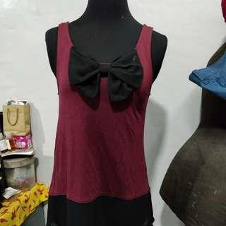 H&M Sleeveless Red Casual Top