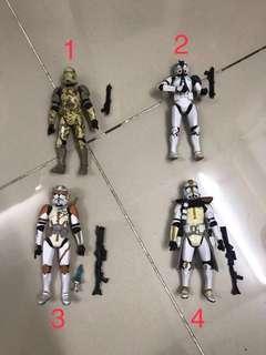 Star Wars Clone trooper, snowtrooper, scout trooper