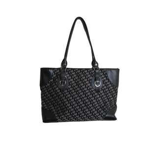 New York & Company Black Printed Handbag