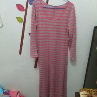 Baju Panjang Abu Pink