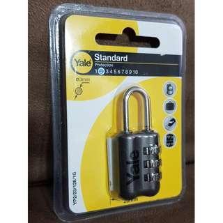 Yale Standard Travel Luggage Padlock, Lock, Travel Bag, FOC Mailing