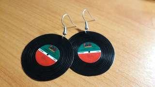 Vinyl Record Earrings (Design 2)