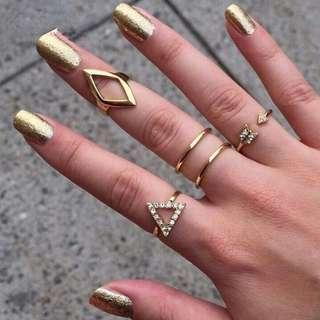 5Pcs Cris Cross Rings