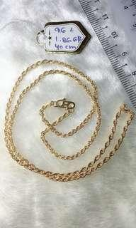 🚚 916 Gold Hollow Rope Necklace
