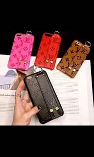 Lv leather stamped iPhone case